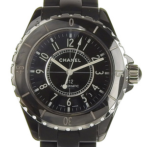 CHANEL J12 Ceramic Rubber Automatic Mens Watch H0684
