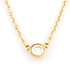 TIFFANY & Co. Tiffany K18 Necklace Diamond By The Yard Gold Ladies Men