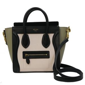 CELINE Celine Handbag Luggage Nano Shopper Calf Pink Ladies Men's