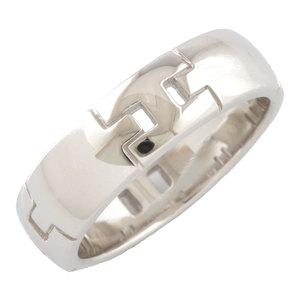 HERMES Hermes K18WG Ring No. 10 Hercules K18 White Gold Ladies Men's