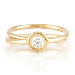 HERMES K18 ring diamond gold ladies