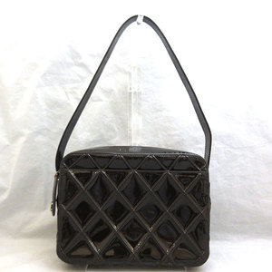 Chanel Shoulder Bag Brown One Semi Matasse Ladies Enamel Patent CHANEL