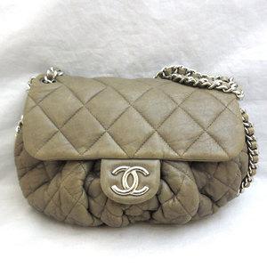 Chanel Bag Chain Around Shoulder Leather Silver Hardware Ladies CHANEL