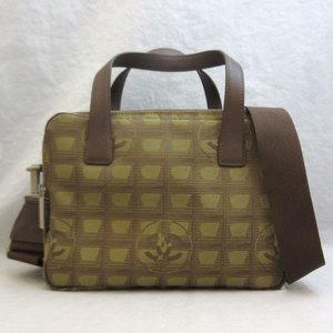 Chanel Handbag New Travel Line Khaki 2way Shoulder Ladies Nylon CHANEL