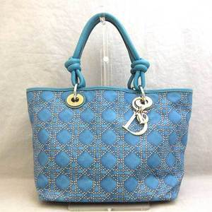 Christian Dior Tote Bag Handbag Canage Print Ladies Coated Canvas x Leather ChristianDior