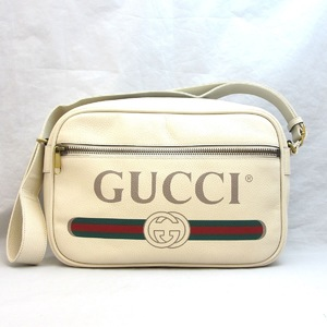 Gucci bag printed leather 523589 shoulder GUCCI