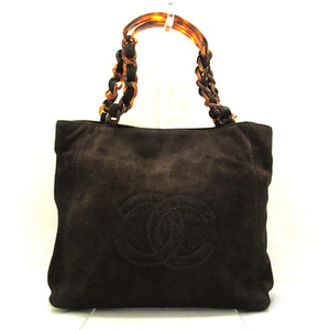 Chanel Handbag Tote Bag Brown Chain Hand Cocomark Ladies Suede CHANEL