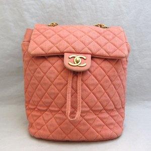 Chanel Bag Matrasse Backpack Denim A91121 Rucksack Ladies CHANEL Gold Hardware