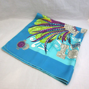Hermes Carre 90 datham Multicolor Large Format Scarf Women's Silk HERMES