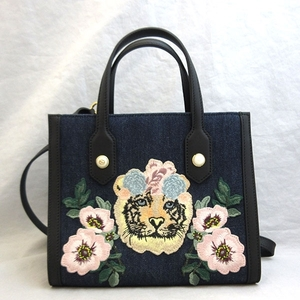 Gucci Bag Hand Tiger Embroidery 2way Denim Japan Limited Shoulder 456546 Ladies GUCCI