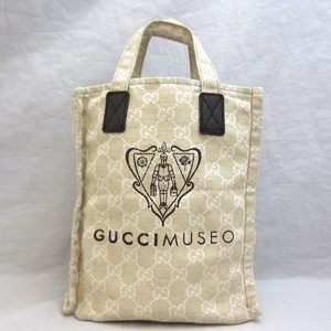 Gucci Bag Hand Museo Canvas Leather Tote 283414 Ladies GUCCI