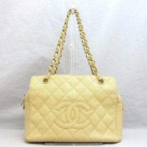 Chanel Bag Matasse Chain Tote Caviar Skin Shoulder Leather Gold Hardware CHANEL