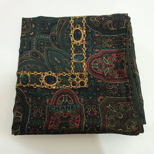 Chanel large format scarf multicolor paisley jewelry chain ladies CHANEL