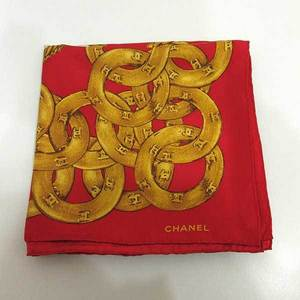 Chanel large format scarf chain motif coco mark ladies silk CHANEL