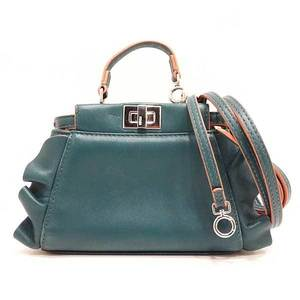 Fendi Bag Shoulder Pochette Mini Hand Micro Peekaboo 2way Ruffle Lambskin Ladies FENDI