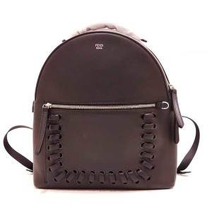 Fendi Bag Rucksack Backpack Leather Black Ladies Men FENDI
