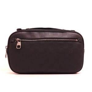 Louis Vuitton Bag Body Waist Pouch Second Ambler Damier Infineonyx Black N41288 Men's LOUISVUITTON
