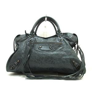 Balenciaga The City Dark Gray Handbag Shoulder 2way Ladies Men's Leather 115748 BALENCIAGA