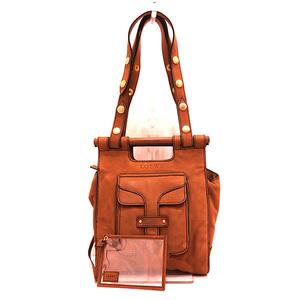Loewe Bag Hand Shoulder 2way Suede x Leather Brown Ladies LOEWE