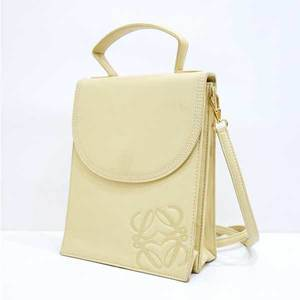 Loewe bag 2way hand lambskin beige shoulder Amazona LOEWE