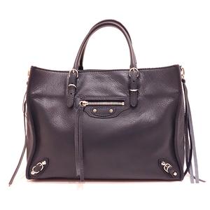 Balenciaga Paper A6 Zip Around Dark Navy Handbag Shoulder 2way Ladies Leather 370926 BALENCIAGA
