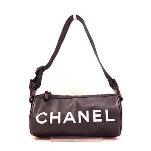 Chanel Shoulder Bag Black Sport Line Mini Drum Ladies Men Rubber x Nylon A24984 CHANEL