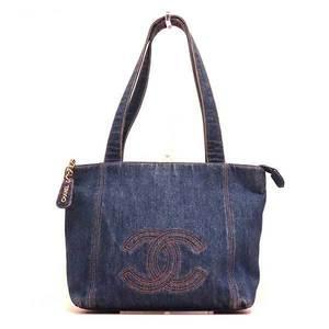 Chanel Bag Tote Shoulder Coco Mark Denim Canvas Ladies CHANEL