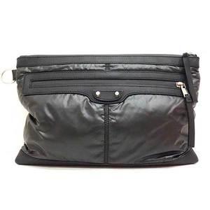 Balenciaga Bag Clutch Second Nylon x Leather Black 273022 Men's Women's BALENCIAGA
