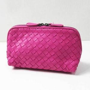 Bottega Veneta Pouch Intrecciato Pink Cosmetic Ladies BOTTEGA VENETA
