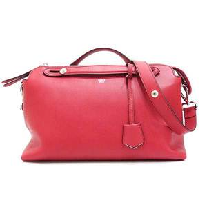 Fendi Bag Tote Shoulder 2way By The Way Leather Red 8BL125 Ladies FENDI