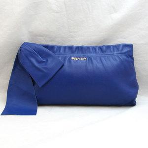 Prada Bag Nappa Antique Leather Ribbon Clutch BP0850 Ladies PRADA