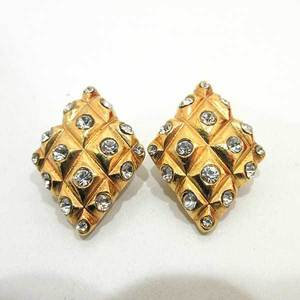 Chanel Earring Gold Color Accessory Vintage Matrasse Ladies Colored Stone x Metal CHANEL