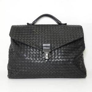 Bottega Veneta Bag Handbag Briefcase Intrecciato Lambskin Black 122139 Mens BOTTEGAVENETA