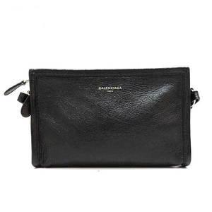 Balenciaga Bag Shoulder Pochette Bazaar Strap Clutch 2way Leather Black 452460 Ladies BALENCIAGA