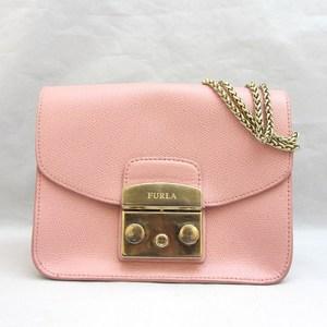 Furla Bag Shoulder Metropolis Pink Leather Ladies FURLA