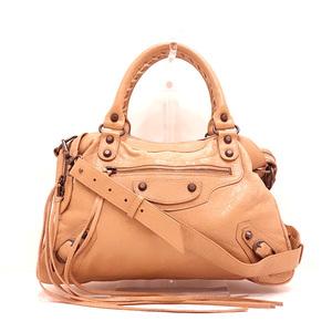 Balenciaga The Town Brown Handbag Shoulder 2way Ladies Leather 240579 BALENCIAGA