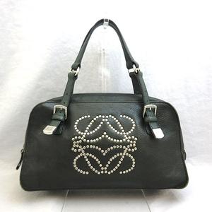 Loewe Bag Anagram Studs Boston Leather Moss Hand Ladies LOEWE