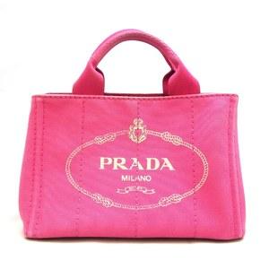 Prada Bag Mini Kanapato Tote Canvas Fuchsia Pink BN2439 Ladies Hand PRADA