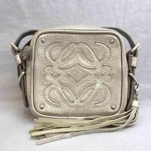 Loewe bag anagram shoulder pochette fringe silver ladies LOEWE