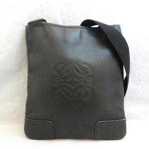 LOEWE Bag Anagram Shoulder Leather Black