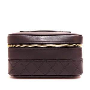 Chanel Bag Vanity Makeup Pouch Bicolore Lambskin Black A01618 Ladies CHANEL