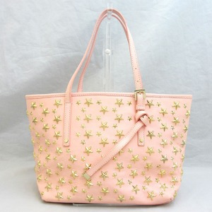 Jimmy Choo Bag Tote Sasha S Starstuds Pink Leather Ladies JIMMY CHOO