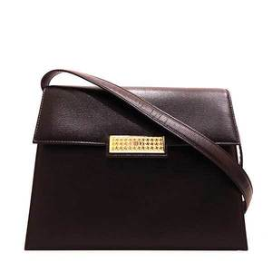 Christian Dior Bag Shoulder One Leather Black Ladies ChristianDior
