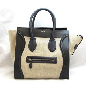 Celine Bag Luggage Mini Shopper Tote Calf Canvas 165212 Ladies CELINE