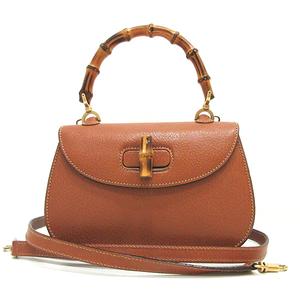 Gucci Handbag Shoulder Bag Brown Bamboo 2way Ladies Leather 000 2113 0188 GUCCI