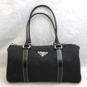 Prada Bag Mini Boston Hand Nero Black Nylon Triangle Logo Ladies BL0176 PRADA