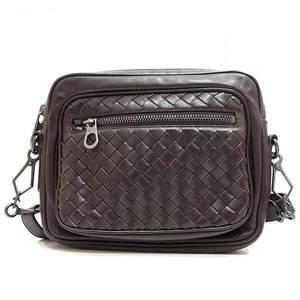 Bottega Veneta Bag Shoulder Pochette Intrecciato Lambskin Brown 180325 Ladies Men BOTTEGAVENETA