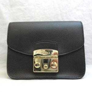 Furla Bag Shoulder Metropolis Black Leather Ladies FURLA