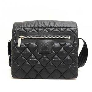 Chanel Bag Shoulder Messenger Coco Cocoon Small Matrasse Nylon Black A48616 Ladies CHANEL