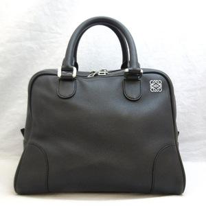 Loewe Bag Amazona 75 Calf Leather 301.30.L03 Hand 2WAY Shoulder Black LOEWE Ladies